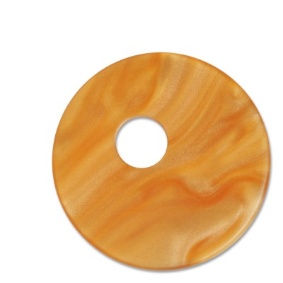 Scheibe Aquarell assym. Acryl 33mm gold