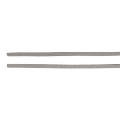 Lederband Alkantara vegan 100 cm grau