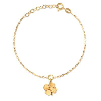 Armkette Glücksklee goldplatt 10mm