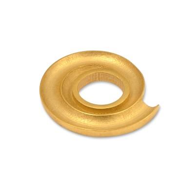 Scheibe Galaxie hoch, asymmetrisch, 22 mm, goldplattiert