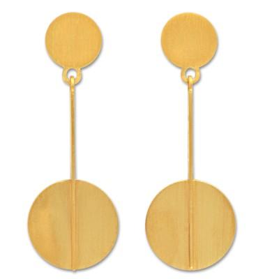 Ohrhänger Stab mit Kreis 2 plattiert
