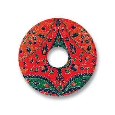 Acryl Scheibe 28mm, red fleur