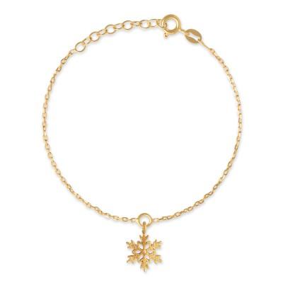 Armkette Snowflake goldplattiert