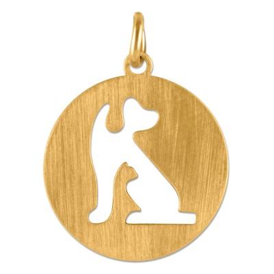 Anhänger Hund 16mm Goldplattiert