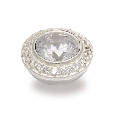 Top Jewels 14 mm, 8 mm Stein weiß