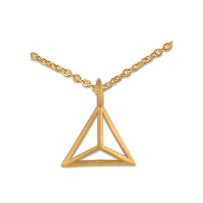 Anhänger Triangel inkl. Silberkette goldplattiert