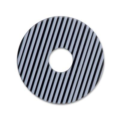 Acryl Scheibe 28mm LEVEL4 schwarz/gestreift