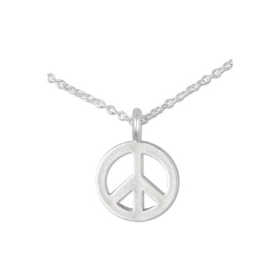 Mini Anhänger Peace, 10 mm, mit Kette