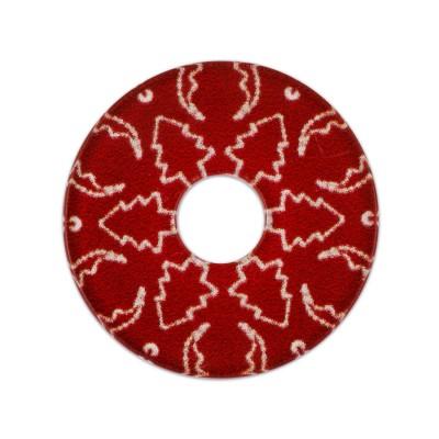 Acryl Scheibe Winter Tanne, 28 mm, rot