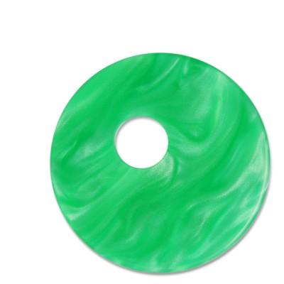 Scheibe Aquarell assym. Acryl 33mm grasgrün