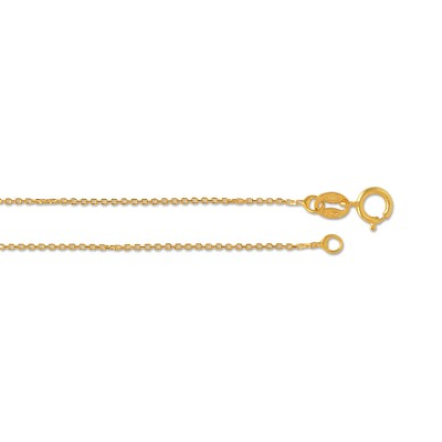 Kette Anker extrafein, 50 cm, ca. 0,8 mm, goldplattiert