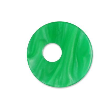 Scheibe Aquarell assym. Acryl 25mm grasgrün