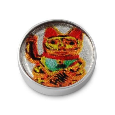 Top KATZE 925 Silber, rund, 14mm