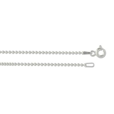 Silber Kugelkette 1,5 mm 60cm rhodiniert