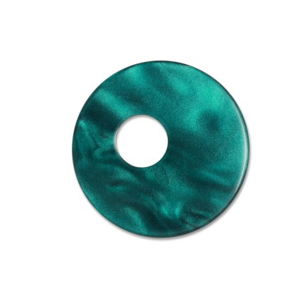 Scheibe Aquarell assym. Acryl 25mm petrol