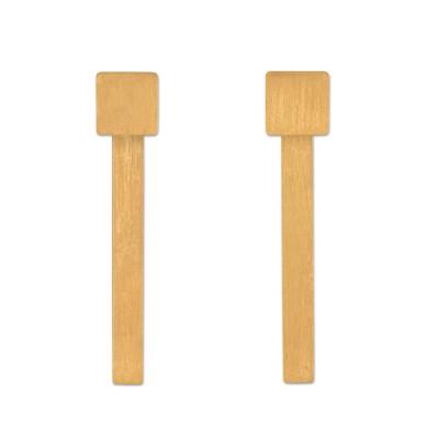 Ohrhänger Quadrat inkl Stab Einhänger plattiert