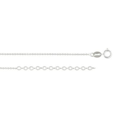 Kette Anker, 40 bis 45 cm, ca. 0,8 mm, rhodiniert