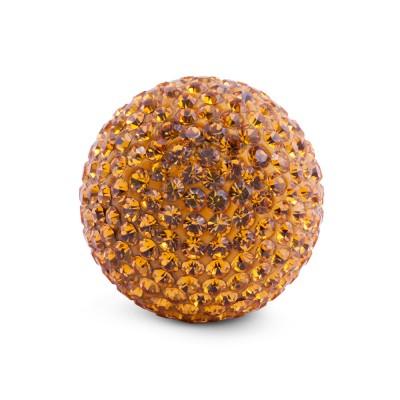 Kristall Klangkugel 20 mm, gold gelb