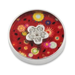 Top Silber Acyl Red Flowers CZ Blume innen 16mm