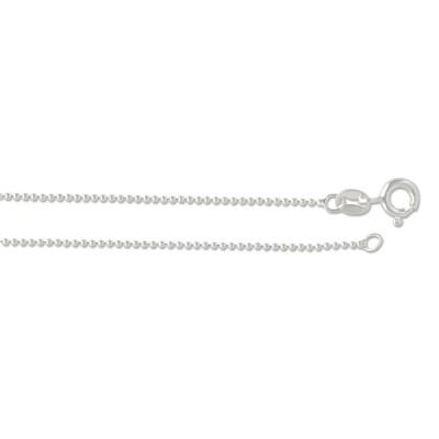 Silber Kugelkette 1.0 mm 45cm