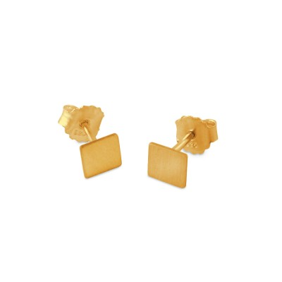 Ohrstecker Quadrat 6x6 mm plattiert