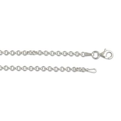 Kette Erbskette Silber 45cm 3 mm rhodiniert