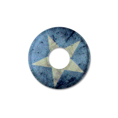 Acryl Scheibe 22mm blue Star