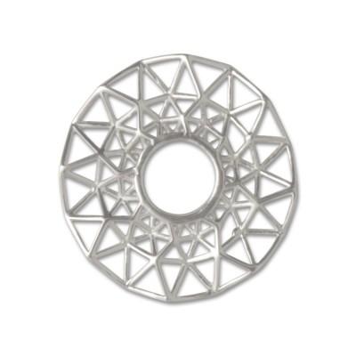 Scheibe Triangel filigran 25mm Silber