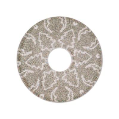 Acryl Scheibe Winter Tanne, 28 mm, grau