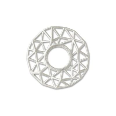 Scheibe Triangel filigran 22,5 mm Silber