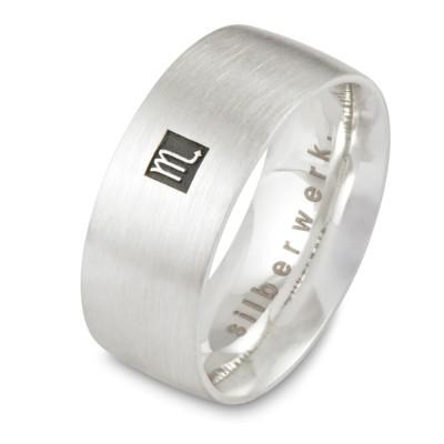 Ring 8 mm, bis 3 Sternzeichen