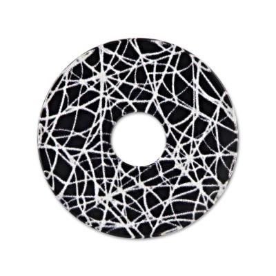 Acryl Scheibe 28mm Spinneweben