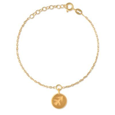 Sternzeichen Anhänger 10 mm, Schütze, inkl. Armkette, goldplattiert