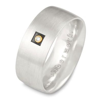 Ring 8mm - Carree Brillant