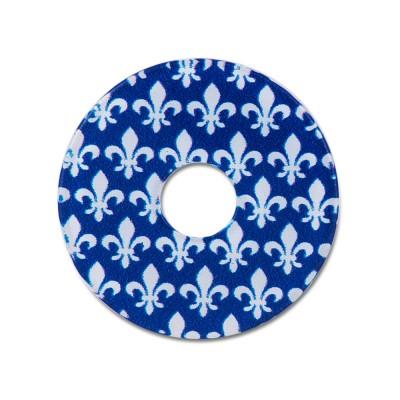 Scheibe Lilie blau 28mm