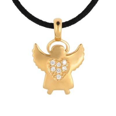 Sonnen-Engel mit veganem Lederband
