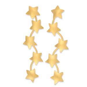 Ohrstecker Stars 10x50mm Paar goldplattiert