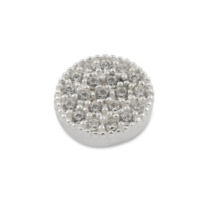Top Crystal mini Pavé rund 10mm, Zirkonia