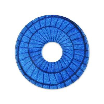 Acryl Scheibe 28mm Schirm blau