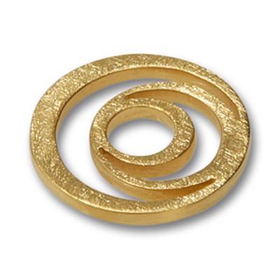 Scheibe Looping, , goldplattiert