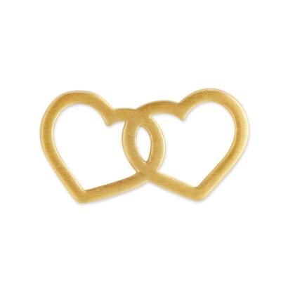 Anhänger 2 Herzen goldplattiert