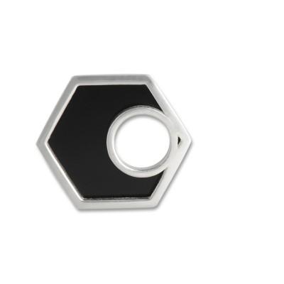Scheibe Hip, 19 mm, Sechseck, mit Acrylscheibe