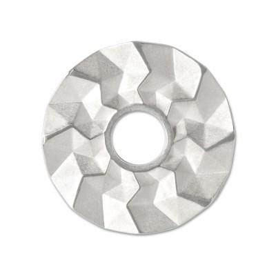 Scheibe Triangel 28mm silber