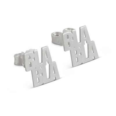 Ohrstecker BLA BLA 9x10mm