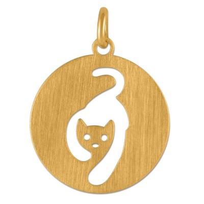 Anhänger Katze Goldplattiert