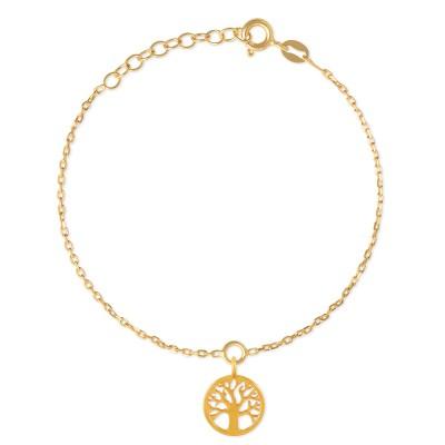 Armkette Lebensbaum 11mm goldplattiert