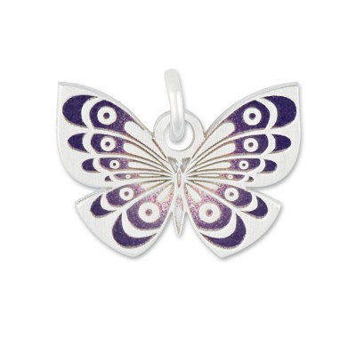 Anhänger Schmetterling lila ohne Silberkette