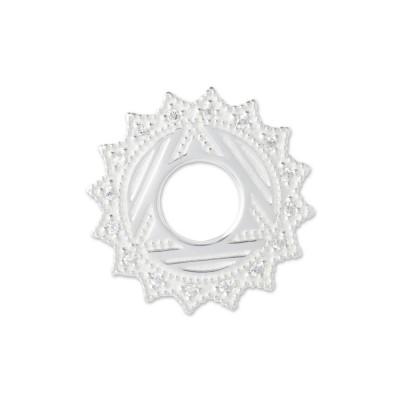 Scheibe Chakra Hals, 23 mm, Zirkonia Pavée