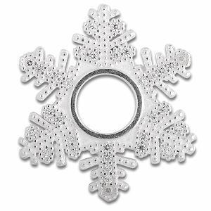 Scheibe Snowflake, Zirkonia Pavé, 26 mm