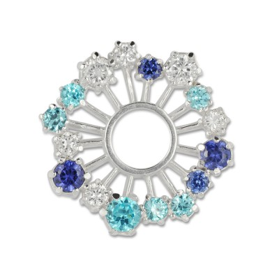 Crystal blautöne 28mm